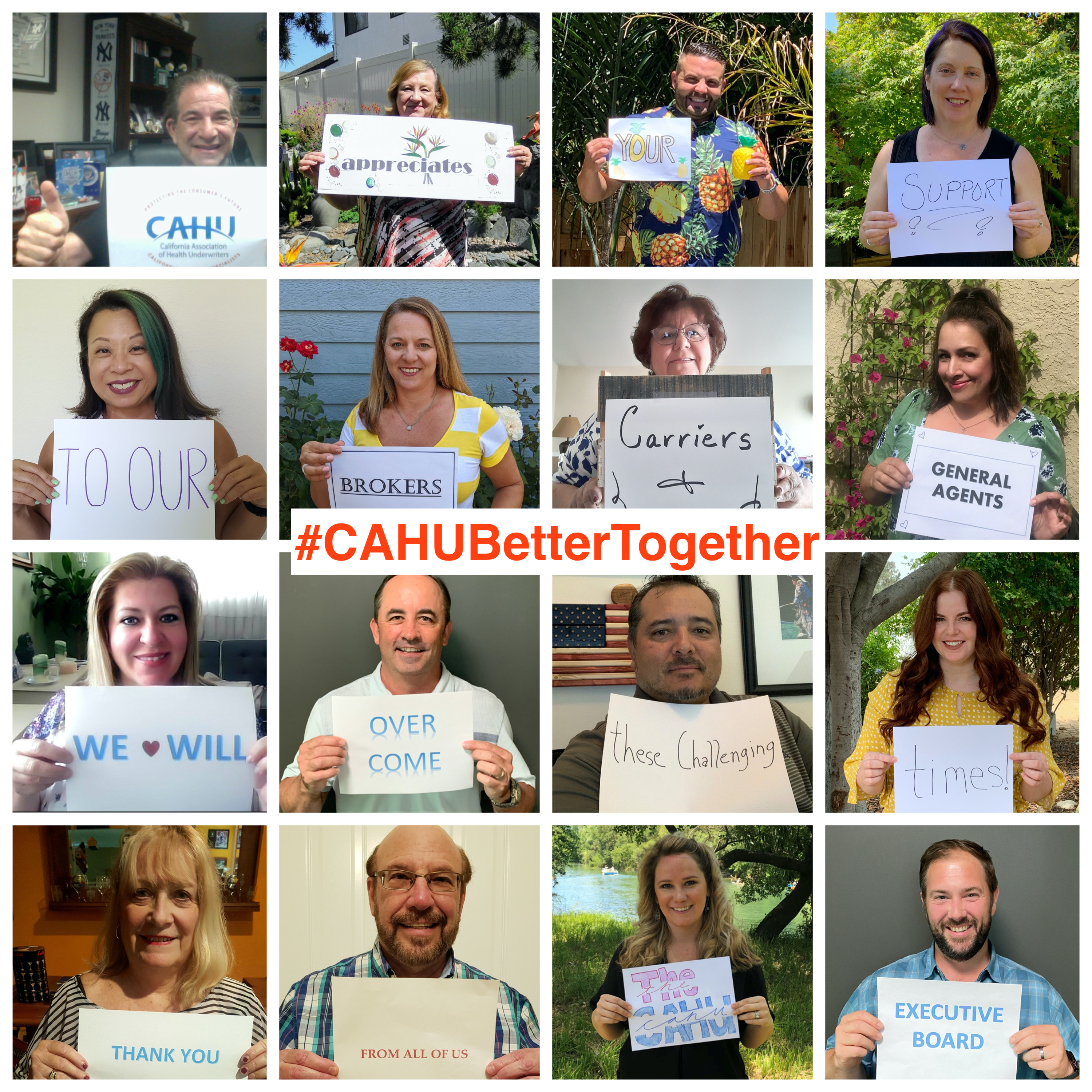 CAHU Better Together Collage