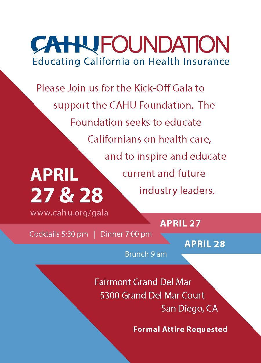 CAHU Foundation Gala Invite