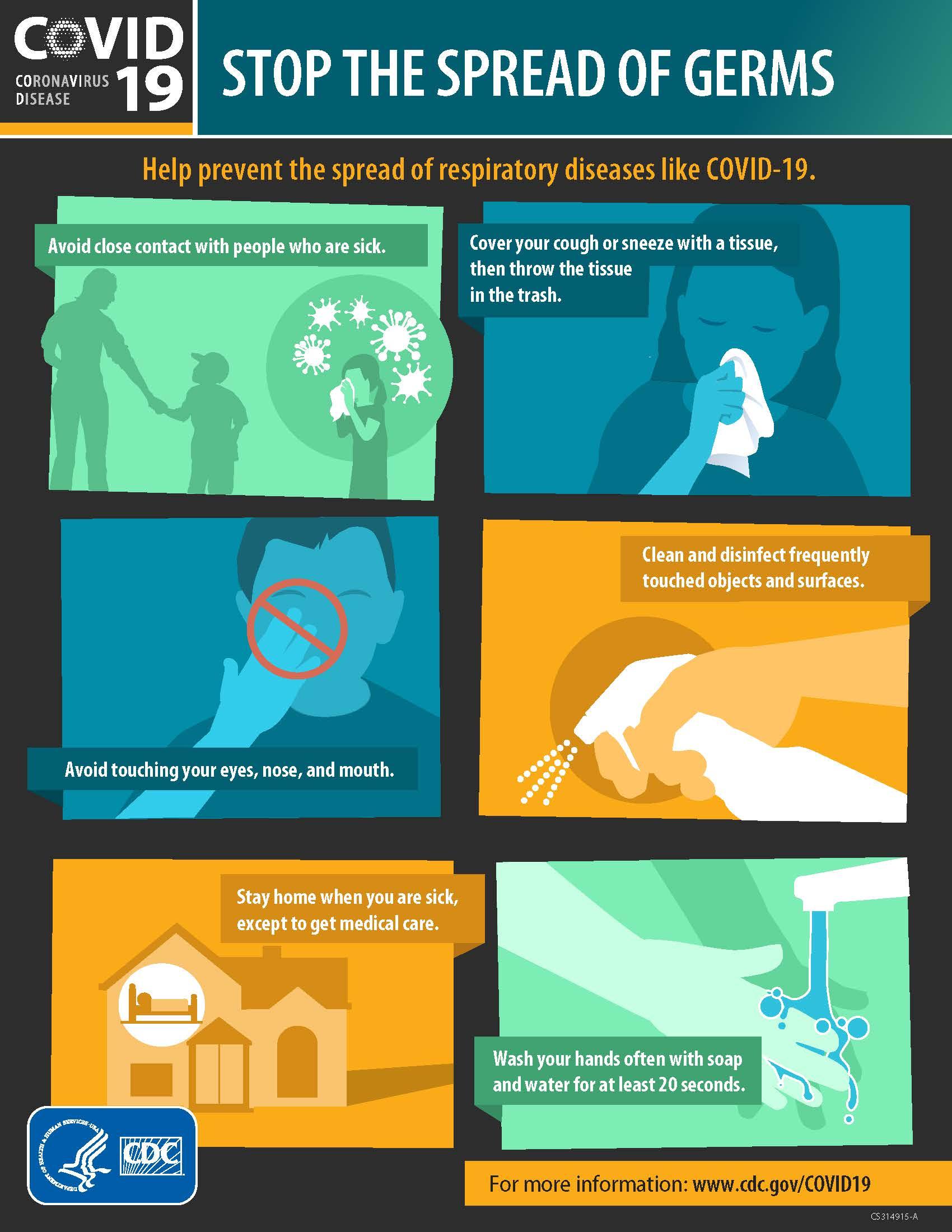 COVID 19 CDC Coronavirus flyer Image