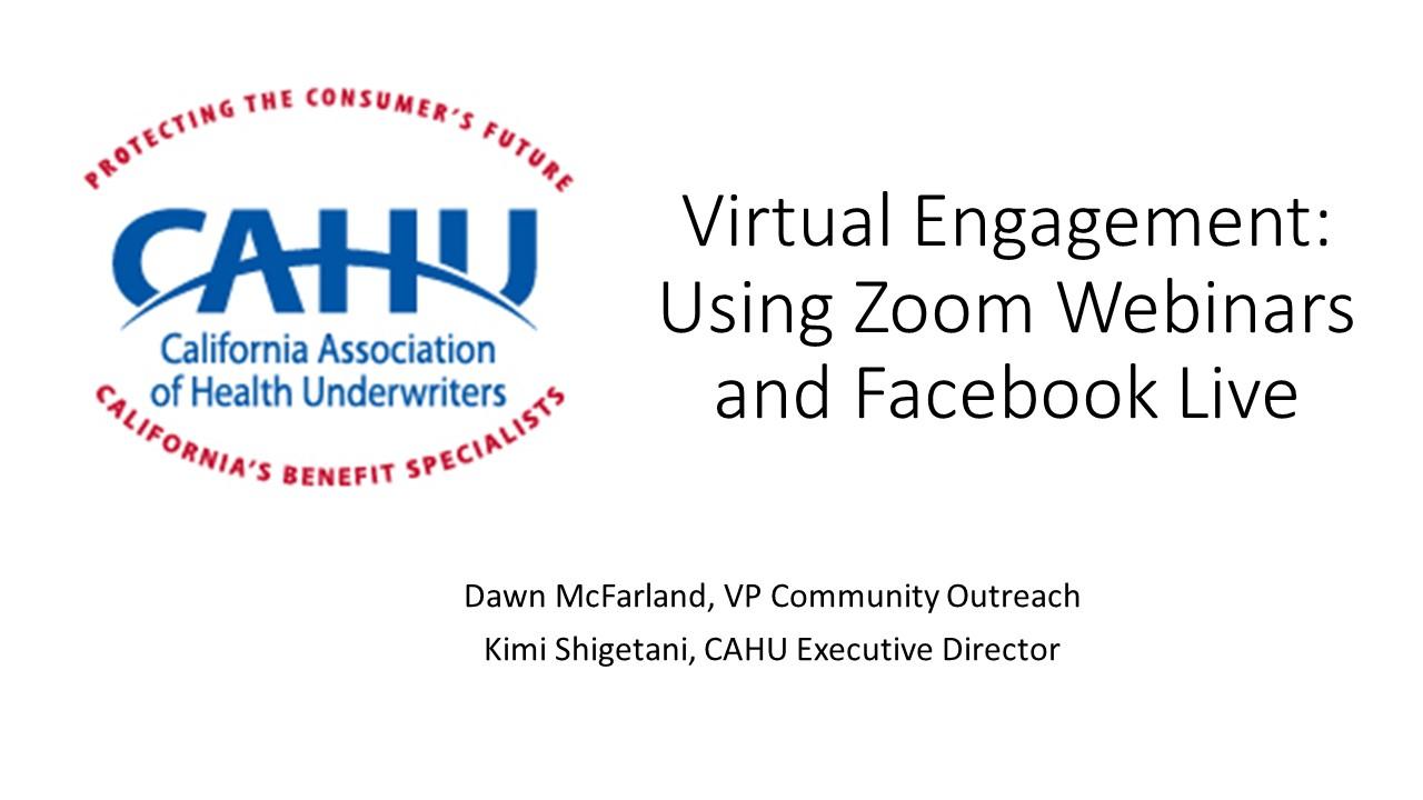 Virtual Engagement Zoom FB Live Image