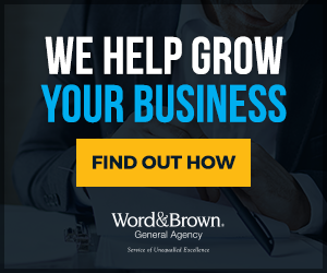 word and brown ad