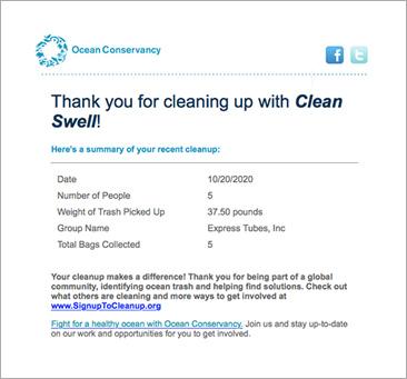 Ocean Conservancy Certificate