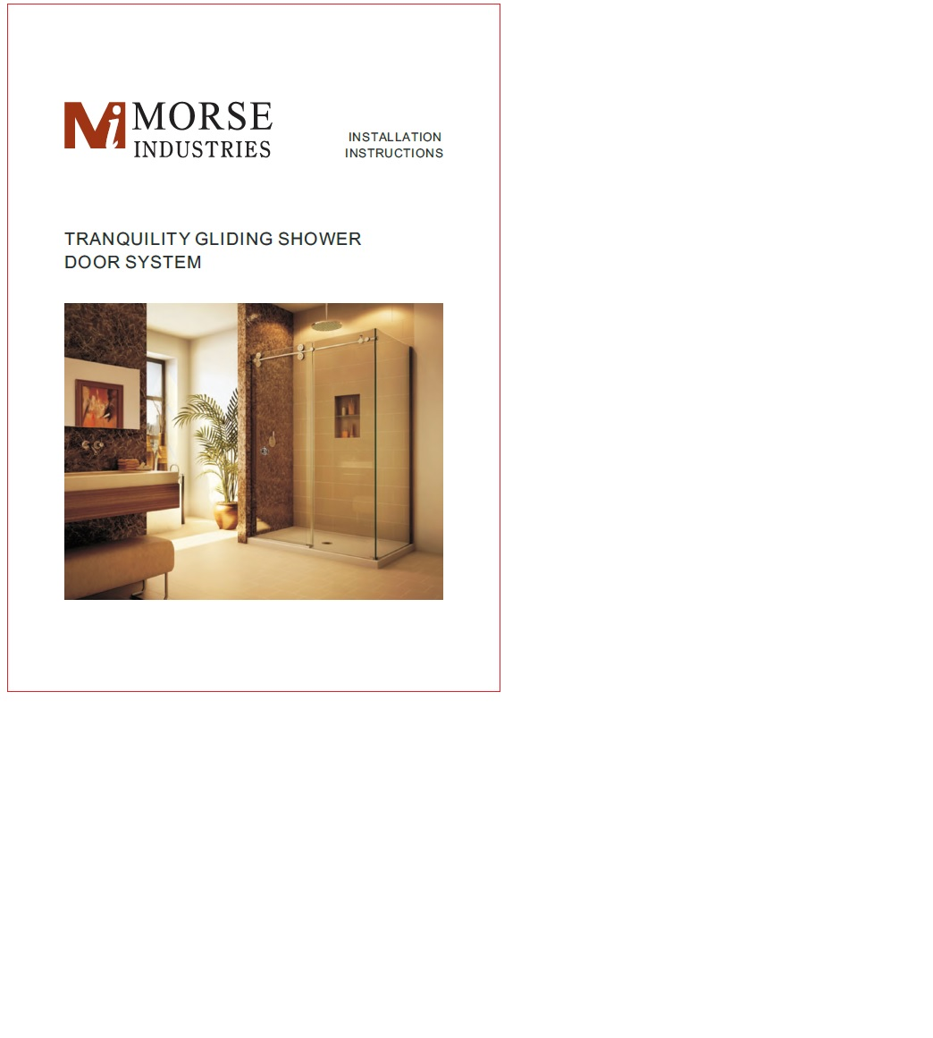 Tranquility Gliding Shower System Instructions